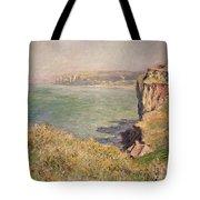 Cliff At Varengeville Tote Bag