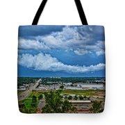 Cliff Avenue Storm Clouds Tote Bag