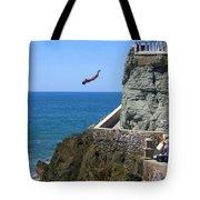 Cliff Divers Tote Bag
