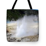 Cliff Geyser Black Sand Basin Yellowstone National Park Tote Bag