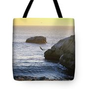 Cliff Jumping To Surf Tote Bag