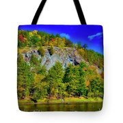 Cliff Of Color Tote Bag