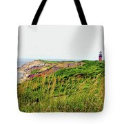 Cliff Off The Shores Of Martha Vineyard Tote Bag