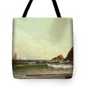 Cliffs At Cape Elizabeth Tote Bag by Alfred Thompson Bricher