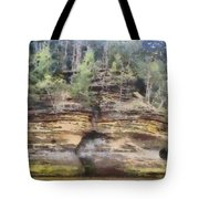 Cliffs At The Dells Tote Bag