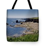 Cliffs Near Souter Lighthouse. Tote Bag