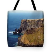 Cliffs Of Moher Ireland View Of Aill Na Searrach Tote Bag
