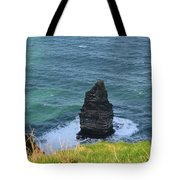 Cliff's Of Moher Needle Rock Formation In Ireland Tote Bag