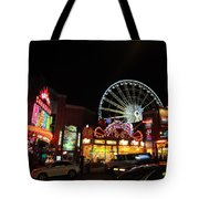 Clifton Hill At Night Tote Bag