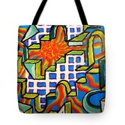 Climbing Abstractly  Tote Bag