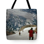 T-204805-climbing Party Mt. Rainier  Tote Bag