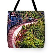 Climbing The Himalayas Tote Bag