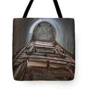 Climbing The Silo Tote Bag by Guy Whiteley