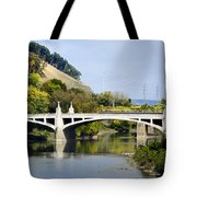 Clinton St. Bridge Prospect Mountain Binghamton Ny Tote Bag