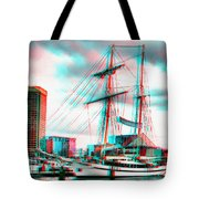Clipper City - Use Red-cyan 3d Glasses Tote Bag