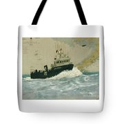 Clipper Endeavor Alaska Boat Nautical Chart Map Tote Bag
