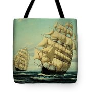Clipper Ships Racing To Port Tote Bag