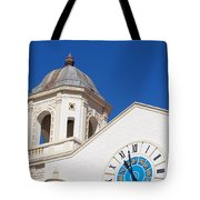 Clock And Tower Tote Bag