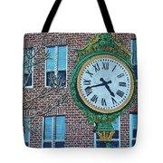 Clock At Port Warwick Tote Bag