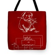 Clock For Keeping Animal Time Patent Drawing 1b Tote Bag