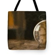 Clock - Id 16218-130706-9555 Tote Bag