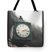 Clock Raven Tote Bag