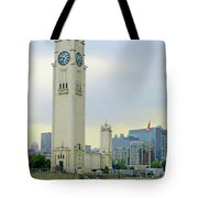 Clock Tower Montreal 1 Tote Bag
