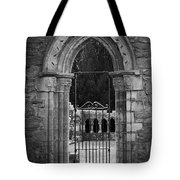Cloister View Cong Abbey Cong Ireland Tote Bag