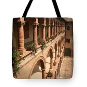 Cloistered Courtyard Tote Bag