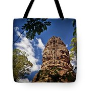 Cloning Out Tourists At Ta Prohm Temple, Angkor Archaeological Park, Siem Reap Province, Cambodia Tote Bag