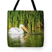 Close Call For The Cormorant Tote Bag