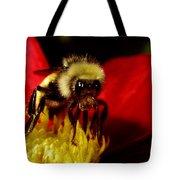 Close Up Bee Tote Bag