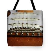Close Up Electric Guitar Tote Bag