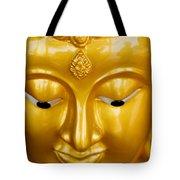Close-up Of A Golden Buddha Tote Bag
