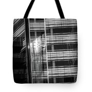 Close Up Of Black And White Glass Building Tote Bag