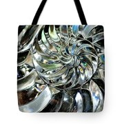 Close-up Of Glass Chambered Nautilus Tote Bag