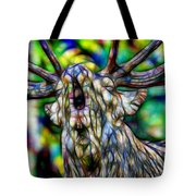 Close Up Of Huge Male Elk Bugling Tote Bag