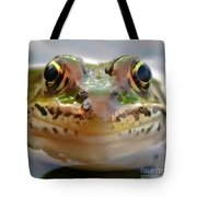 Close-up Of Leopard Frog Tote Bag