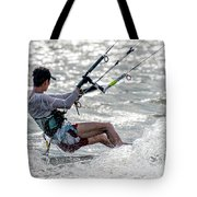 Close-up Of Male Kite Surfer In Cap Tote Bag