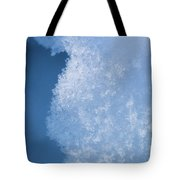 Close Up Of Snow Tote Bag