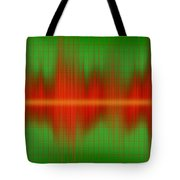 Close-up Of Sound Waves Tote Bag