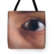 Close-up Of The Eye Of A Man Tote Bag
