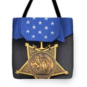 Close-up Of The Medal Of Honor Award Tote Bag