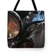 Close Up On Black Shining Car Round Light Tote Bag