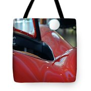 Close Up On Red Sport Car Tote Bag