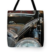 Close Up On Vintage Black Shining Car Tote Bag