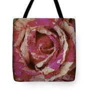 Close Up Pink Red Rose Tote Bag