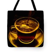 Close View Of Coffee Being Poured Tote Bag