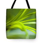 Close View Of Green Flower Tote Bag