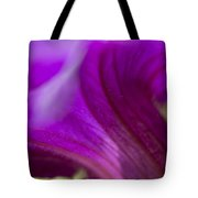 Close View Of Purple Petunia Tote Bag